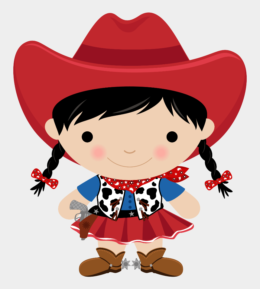 baby girl clip art, Cartoons - Baby Girl Clipart Cowgirl - Kid Cowgirl Clipart