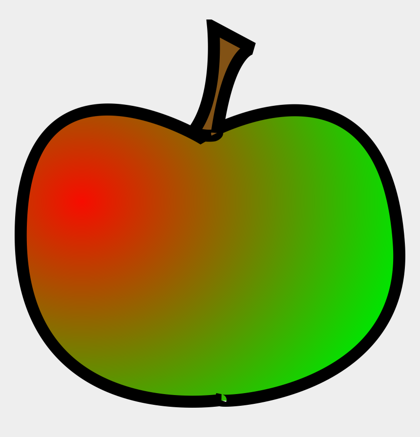 apples clipart, Cartoons - Apple Green Red - Cartoon Red And Green Apple