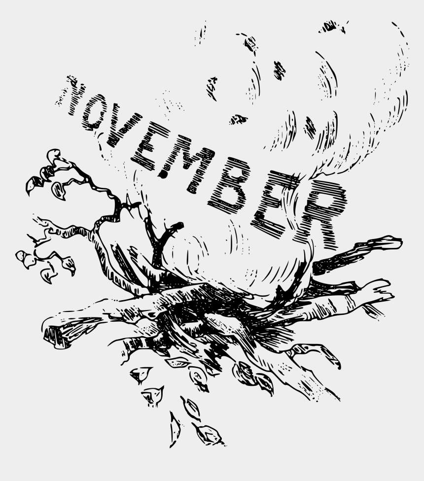 november clip art, Cartoons - Clipart Illustrated Months November - Drawing For The Month Of November