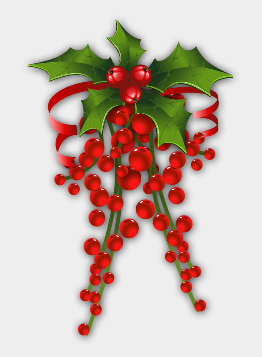 Christmas Holly Clip Art.Christmas Holly Christmas Decoration Items Png Cliparts