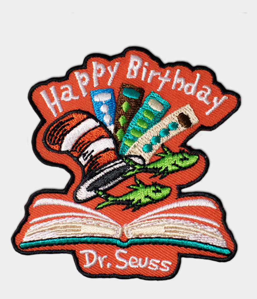 dr. seuss clip art, Cartoons - Seuss Birthday Scout Patch - Dr Seuss Girl Scout Patch