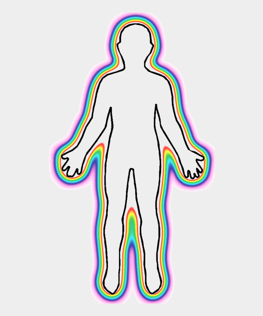 november clip art, Cartoons - Com Outline Of Human Male Body With Glowing Aura - Human Body Outline