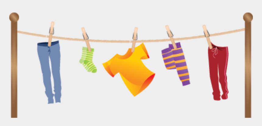 laundry clip art, Cartoons - Hanging Clothes Clipart - Washing Line Clipart Png