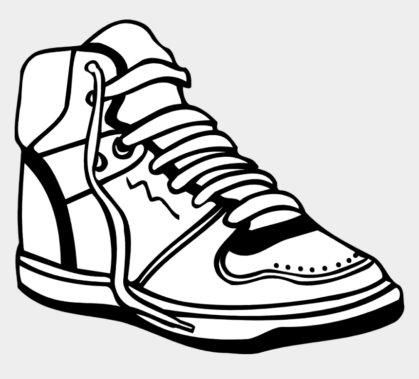 tennis shoes clipart, Cartoons - Sneakers Clipart Black And White