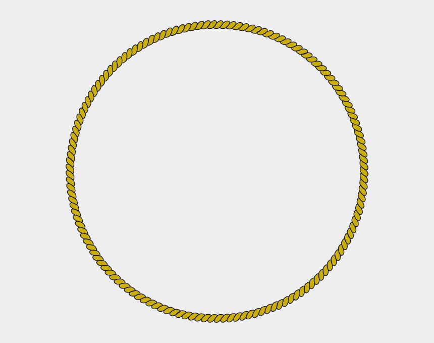 rope clip art, Cartoons - Rope Border Clip Art - Gold Rope Circle Png
