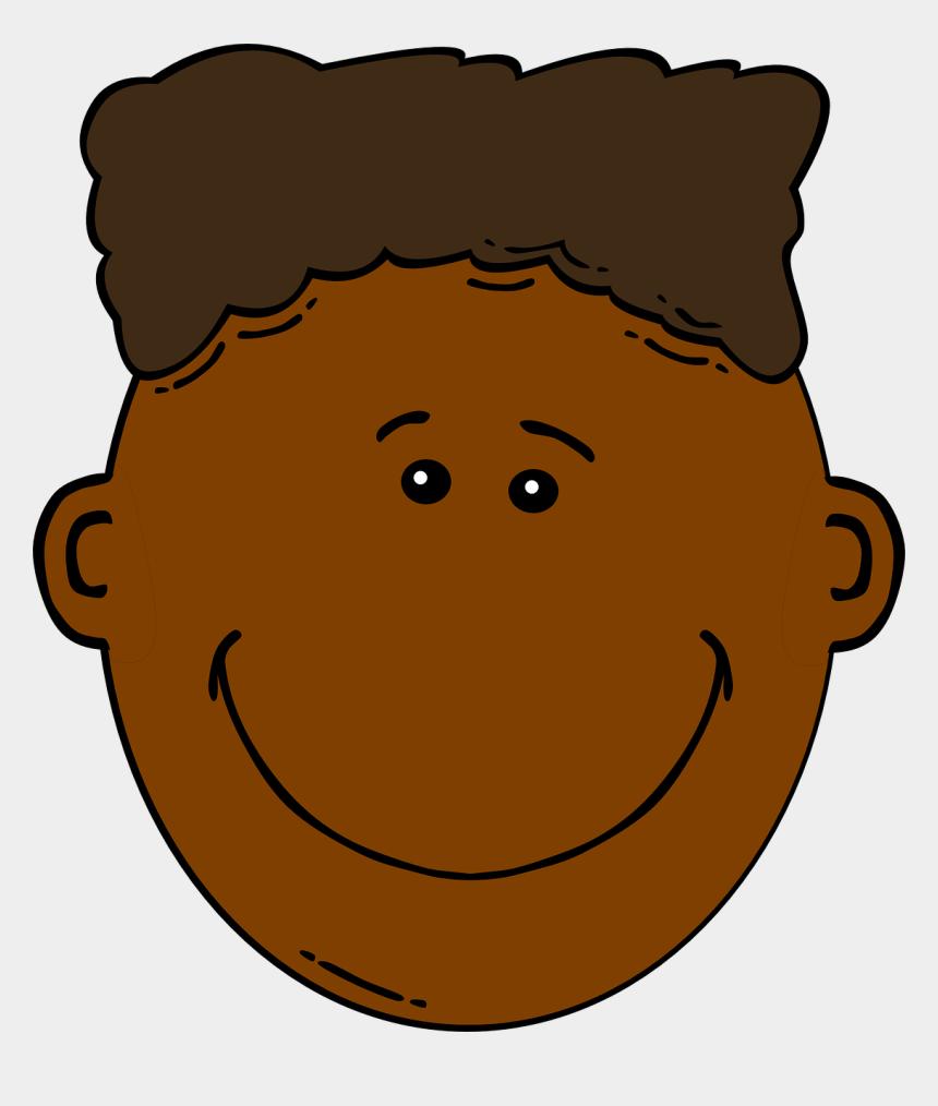 clip art boy, Cartoons - Brown Hair Clipart Boy Head - Black Boy Face Clipart