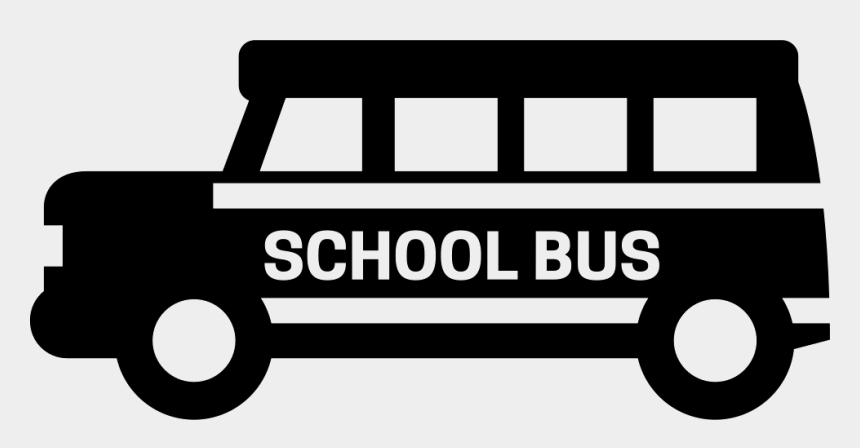 school clip art black and white, Cartoons - School Bus Png Black And White - School Bus Icon Png