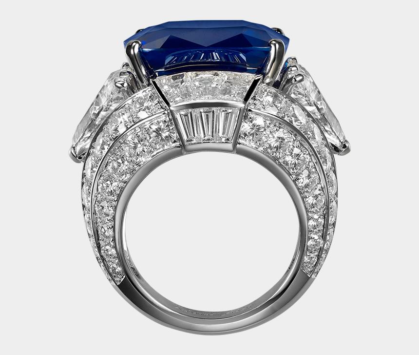 diamond ring clip art, Cartoons - Ring With Blue Diamond Png Clipart - Blue Diamond Ring Png