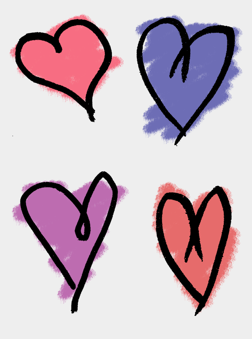 clip art hand, Cartoons - Heart Drawing Clip Art - Hand Drawn Love Heart Png
