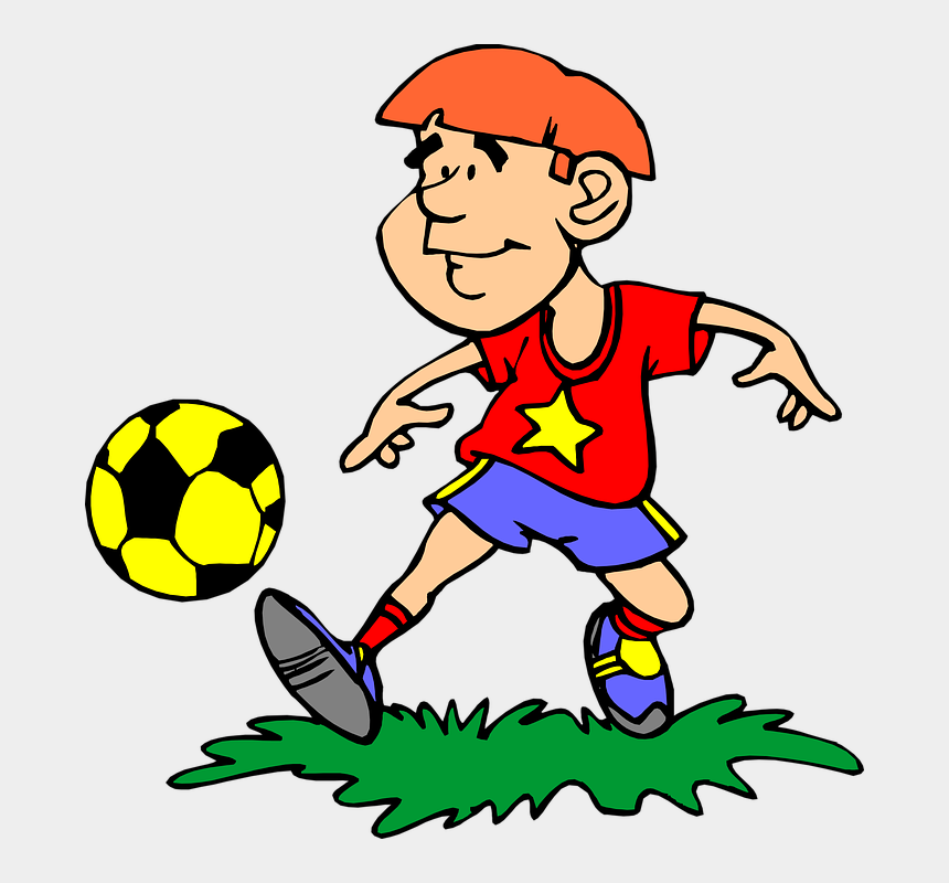 kids playing clip art, Cartoons - Kids Playing Soccer Clipart - Player Clipart