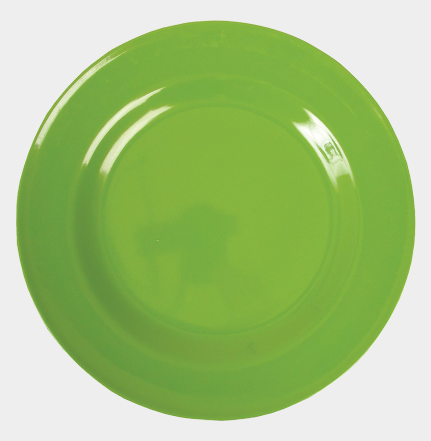 dinner plate clipart, Cartoons - Plates - Green Plate Png