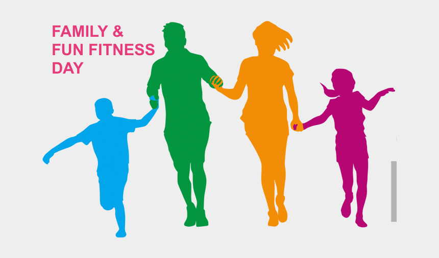 fitness clip art, Cartoons - Empowerment Ministry The Potter S House Fun Ⓒ - Family Running Silhouette Png