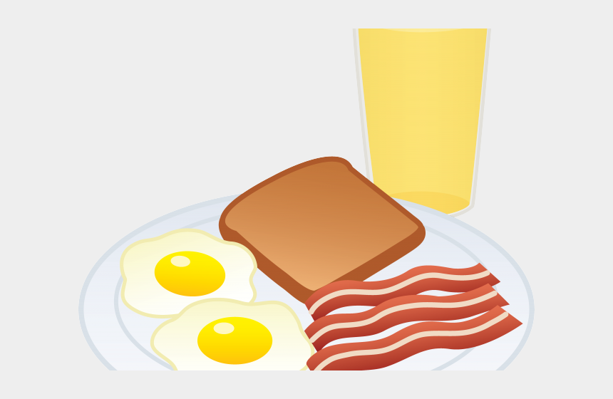 dinner plate clipart, Cartoons - Dinner Plate Clipart Meal Prep - Eggs And Bacon Drawing