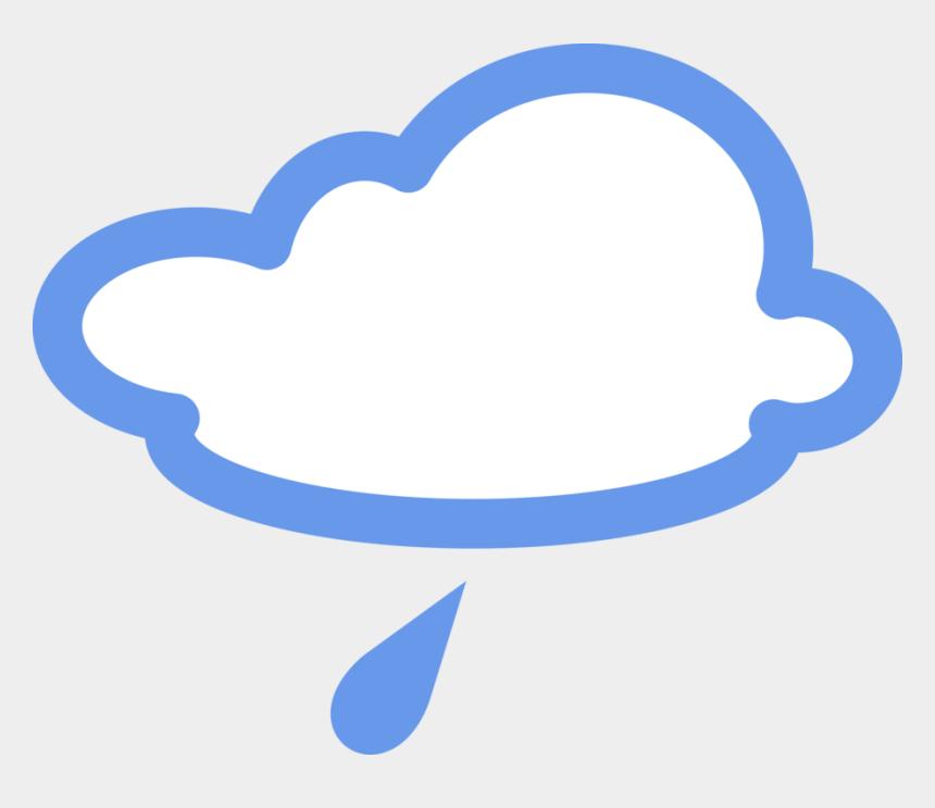 raining clipart, Cartoons - Raining Clipart Weather Icon - Light Rain Weather Symbol