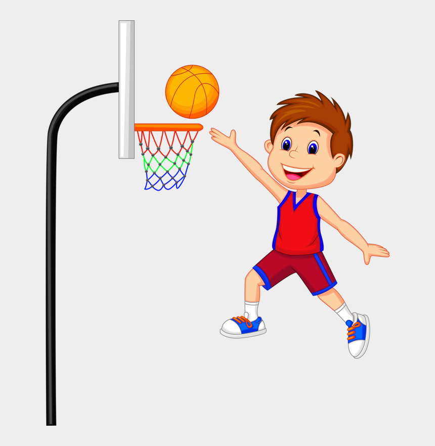 kids playing clip art, Cartoons - Kids Playing - Kid Basketball Clip Art