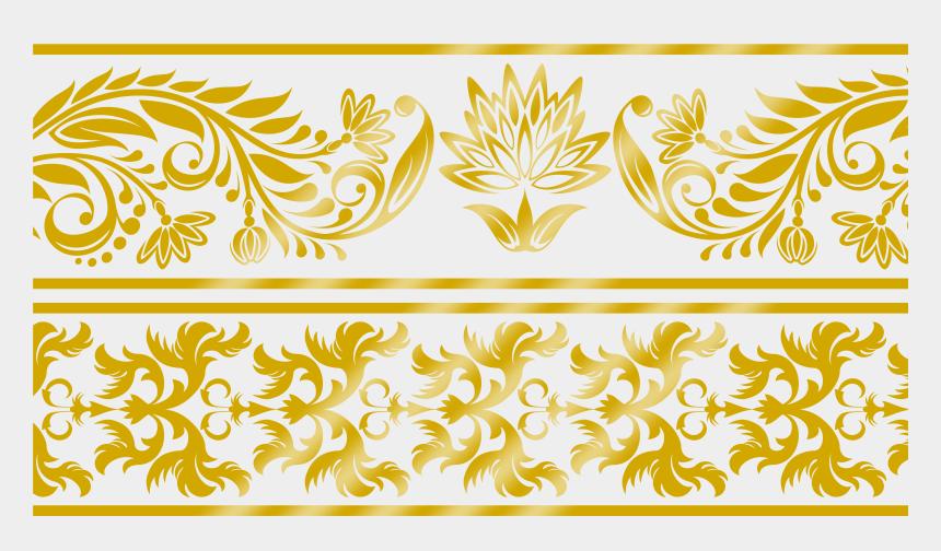 lace clip art, Cartoons - Visual Arts Download Clip - Gold Lace Border Png