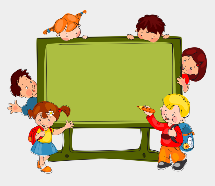 kids playing clip art, Cartoons - Kids Playing Vector Png - School Background Clipart