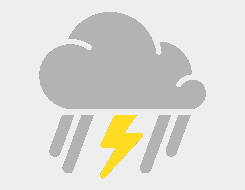 raining clipart, Cartoons - Simple Weather Icons Mixed Rain And Thunderstorms Svg - Clipart Weather Symbols Thunderstorm
