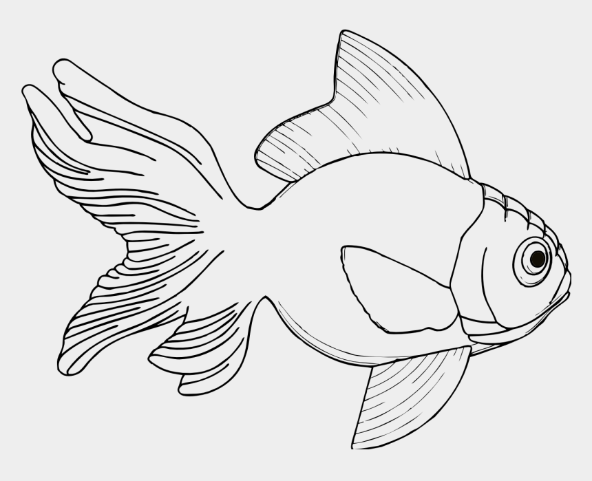 fishing clipart black and white, Cartoons - Fish Line Art - Fish Pictures In Black And White