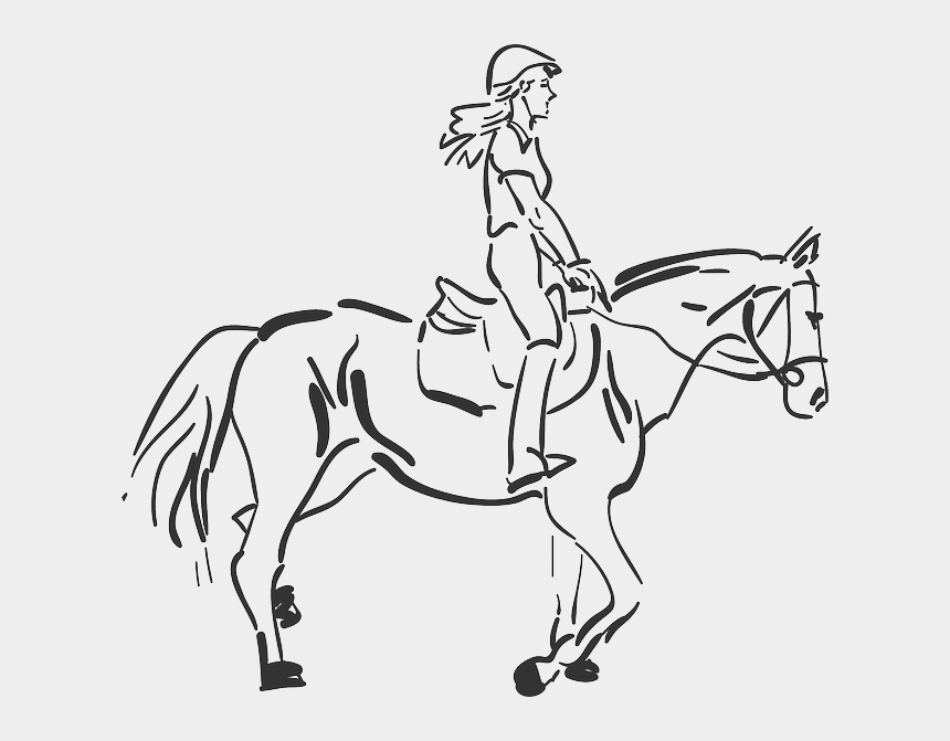 brothers and sisters clipart, Cartoons - Woman Horse Riding - Girl Riding A Horse Drawing