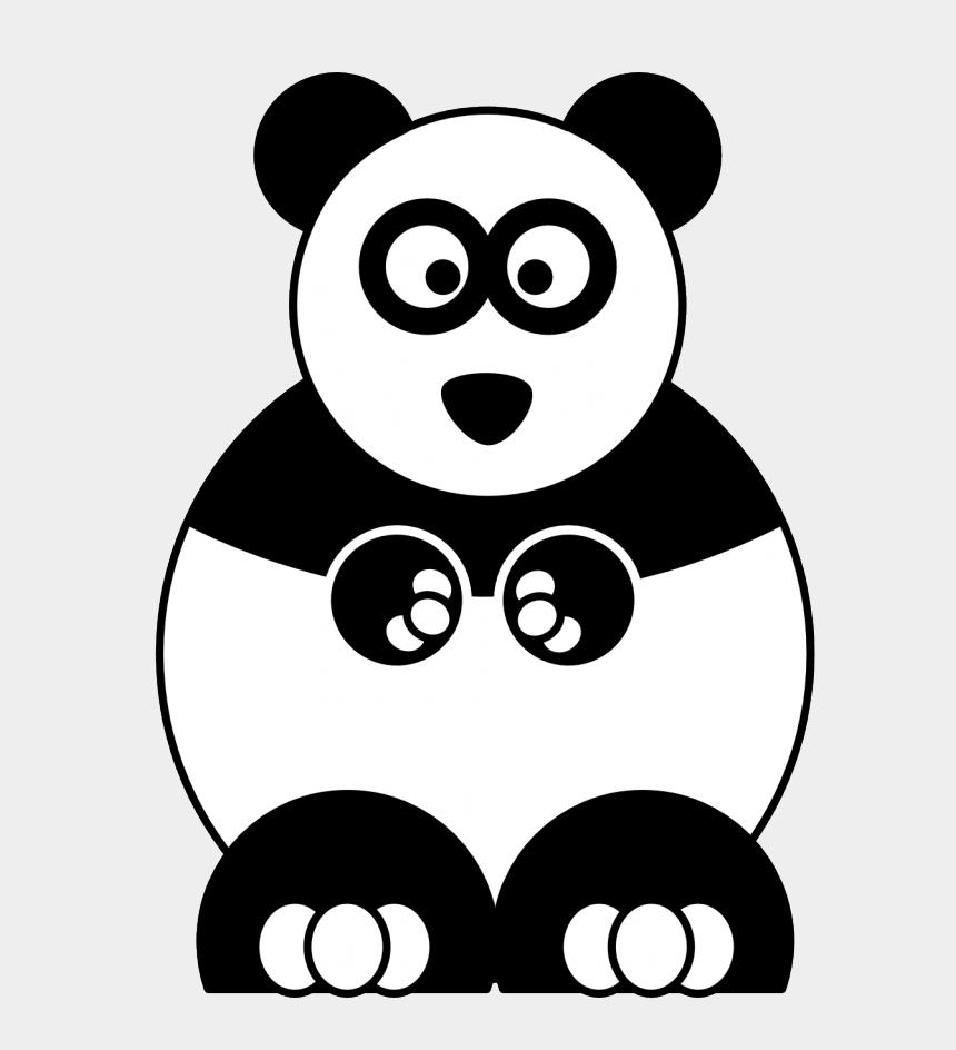 panda bear clipart black and white, Cartoons - Cartoon Panda Black White Line Studiofibonacci Coloring - Cartoon Panda Coloring Page