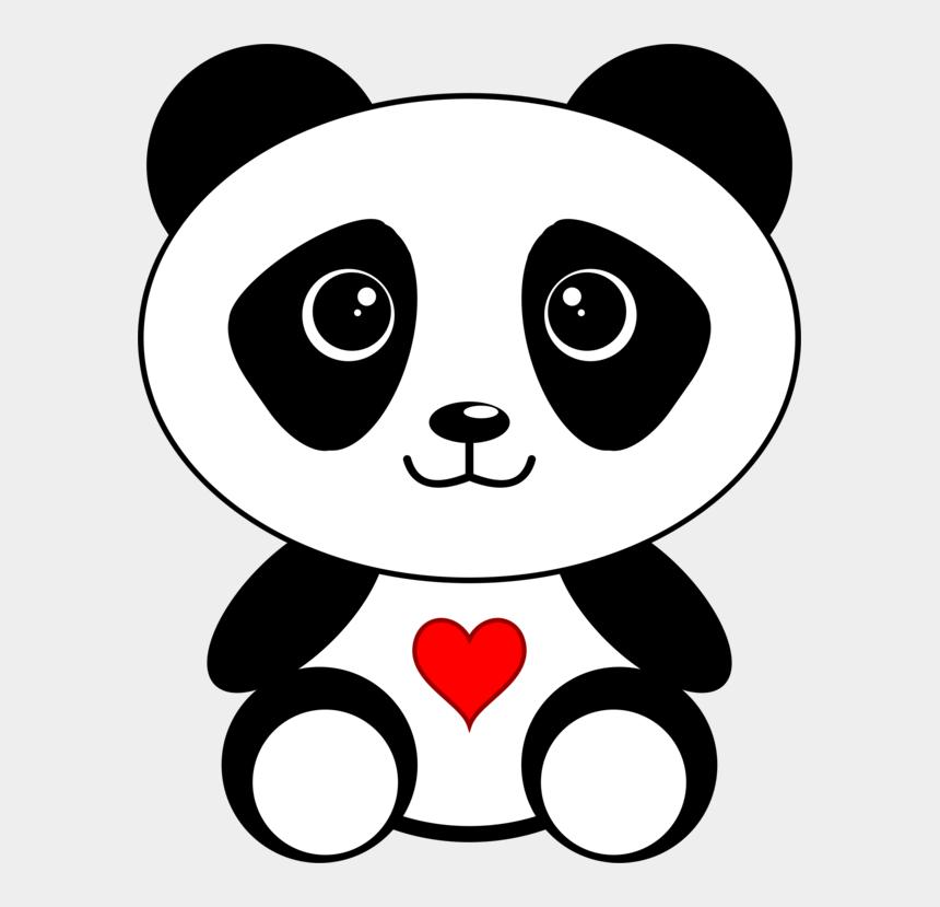 panda bear clipart black and white, Cartoons - Giant Panda Bear Red Panda Coloring Book Panda Kawaii - Cute Cartoon Panda Bear