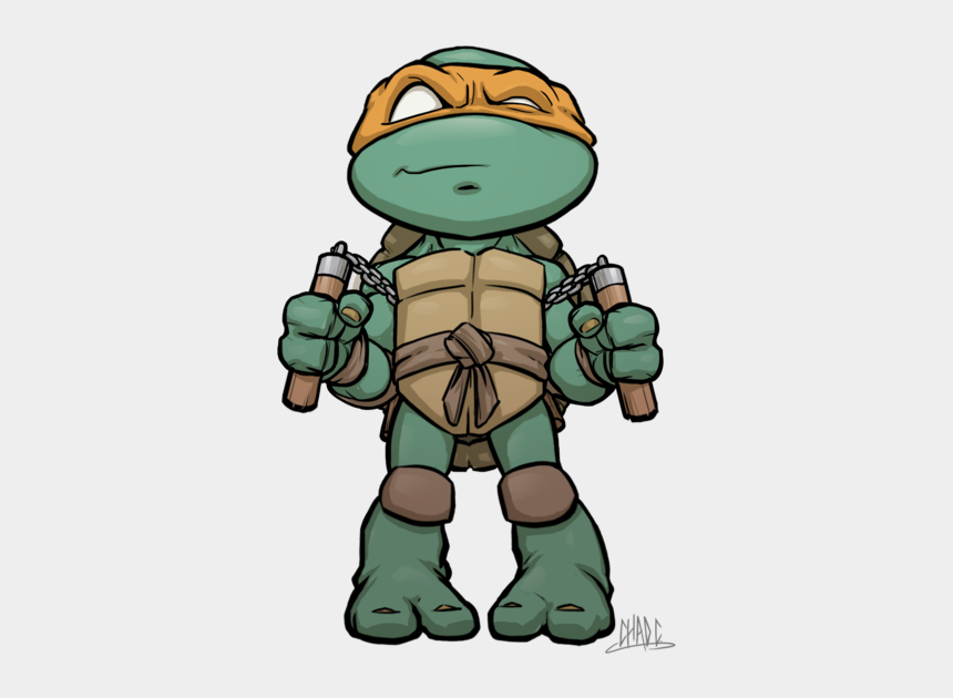 teenage mutant ninja turtles clipart, Cartoons - Turtle Clipart Michelangelo - Mikey Ninja Turtle Drawing