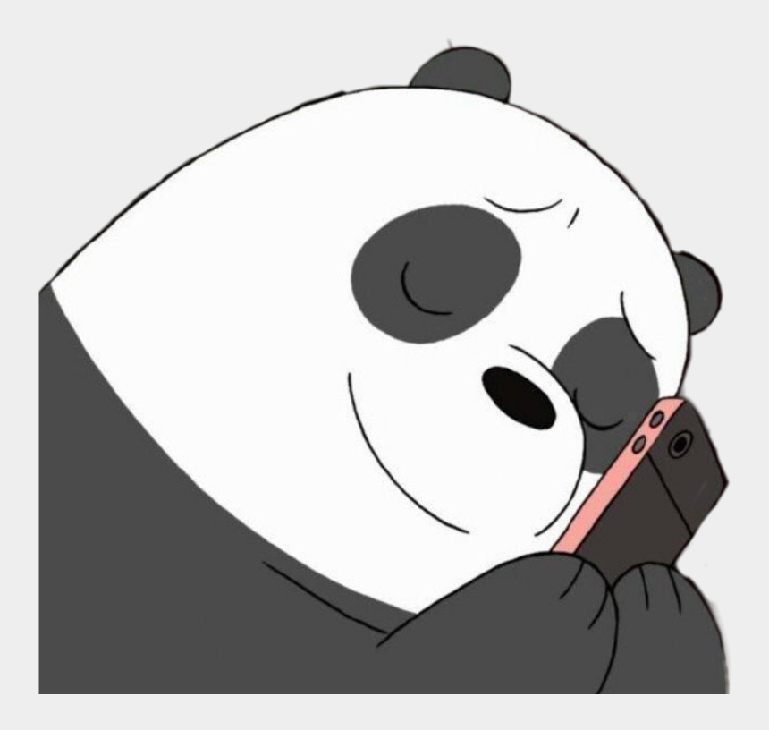 panda bear clipart black and white, Cartoons - #panda #webarebears #pandabear #love #phone #phoneaddict - Cute We Bare Bears Panda