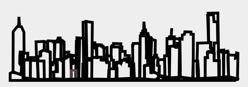 new york city skyline clipart, Cartoons - Skyline New York City Free Picture - New York Skyline Drawing Transparent