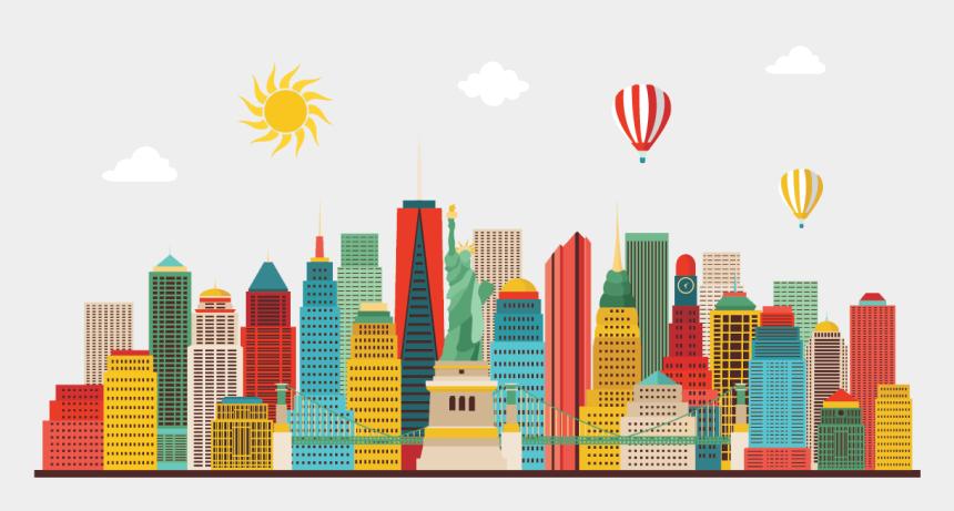 new york skyline clipart, Cartoons - New York City, New York - New York City Illustration