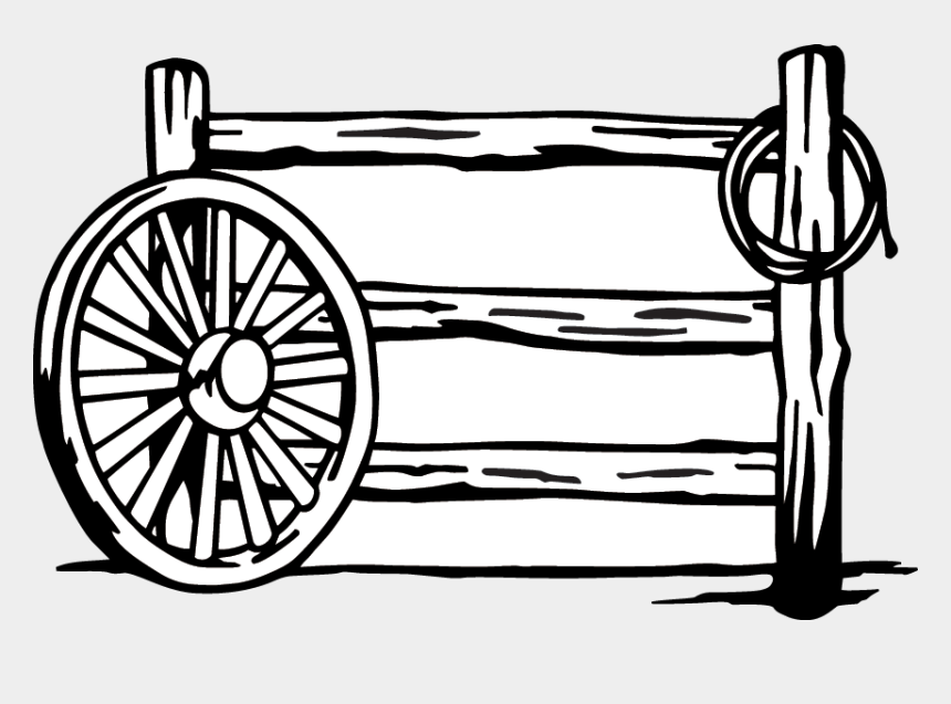 wagon wheel clipart, Cartoons - 13 - Wagon Wheel And Fence Drawings