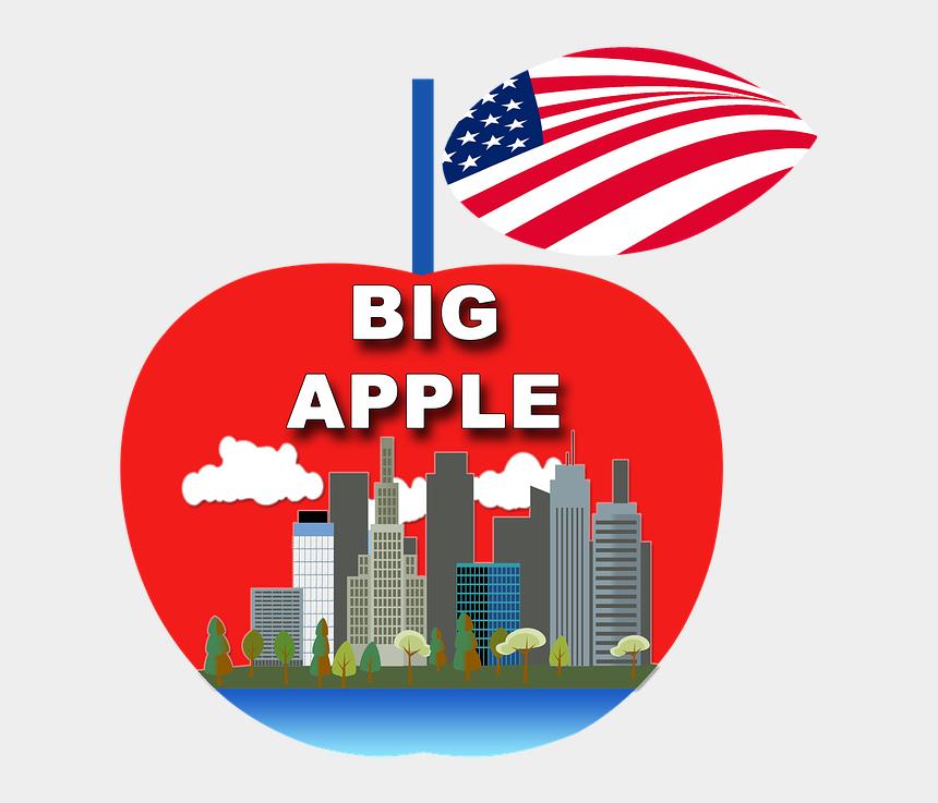 new york city skyline clipart, Cartoons - Apple New York Ny Manhattan - City Skyline Clip Art