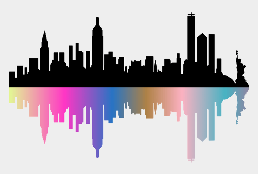 new york city skyline clipart, Cartoons - New York City Skyline Clipart - New York Skyline Silhouette