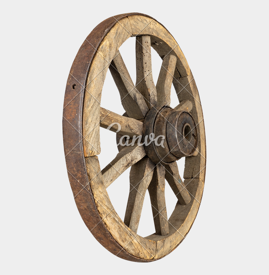 wagon wheel clipart, Cartoons - Wheel Transparent Old - Old Wooden Wheel Png