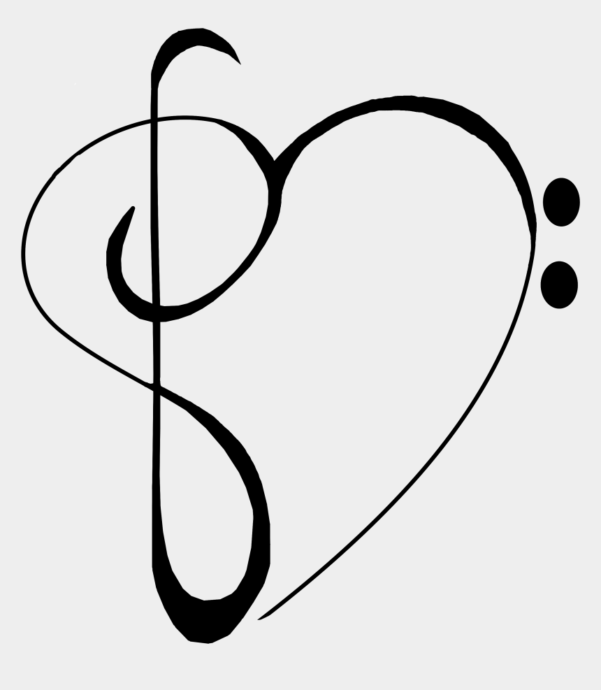 treble cleff clipart, Cartoons - Music Notes Heart Musicnotes Baseclef Trebleclef Freeto - Heart Musicnotes