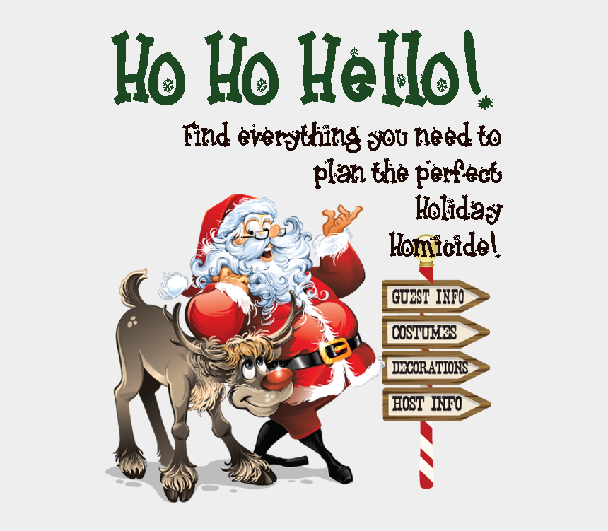 murder clipart, Cartoons - Ho, Ho, Homicide - Holiday Party Murder Mystery