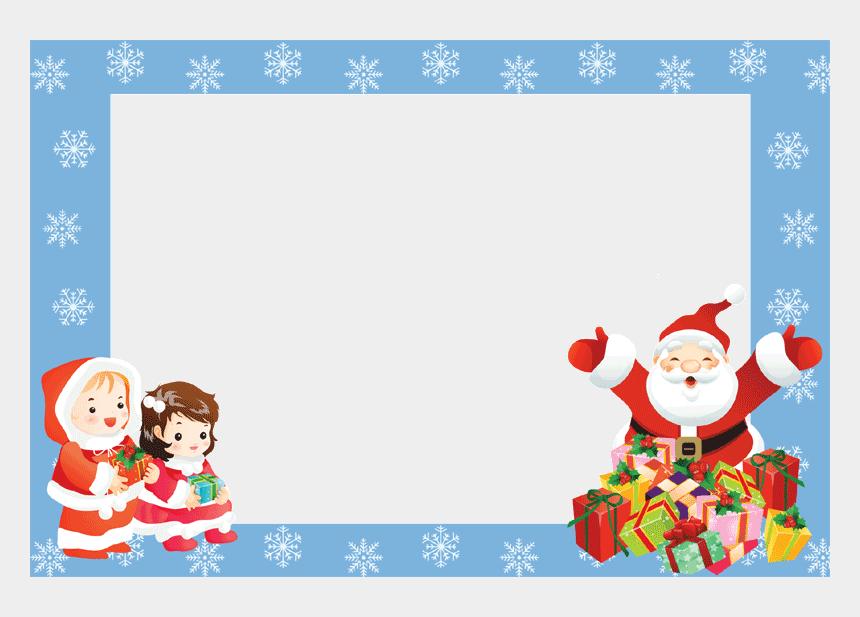 religious christmas clipart border, Cartoons - Christmas Borders And Frames - Christmas Frame Santa Claus