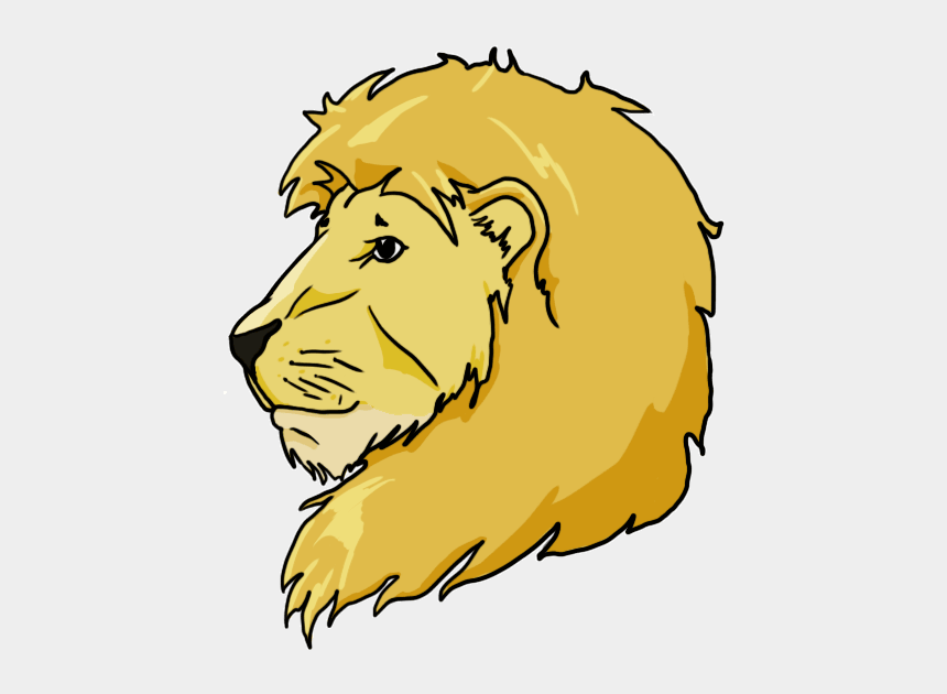 lions head clipart, Cartoons - Instructions On How To Draw Lions And Tigers - Drawing Of Lion And Tiger