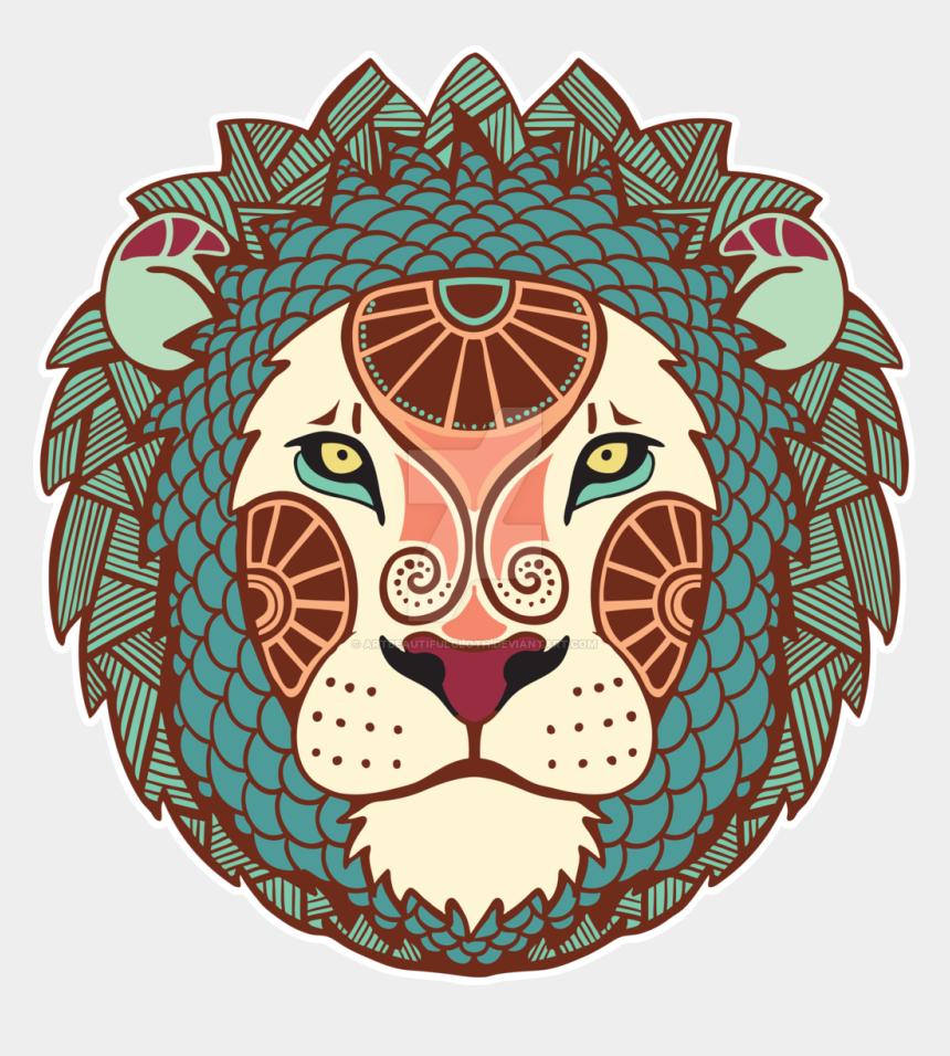 lions head clipart, Cartoons - Lion Head Png Transparent Image - Lion Astrology