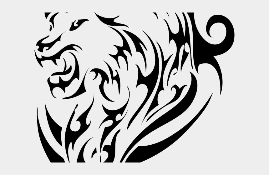lions head clipart, Cartoons - Leo Clipart Lion Head - Tiger Tattoo Png Hd