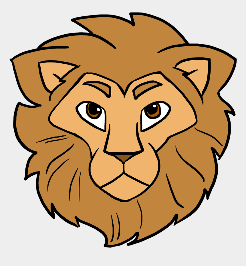 lions head clipart, Cartoons - How To Draw Lion Head - Lion Face Easy Drawing