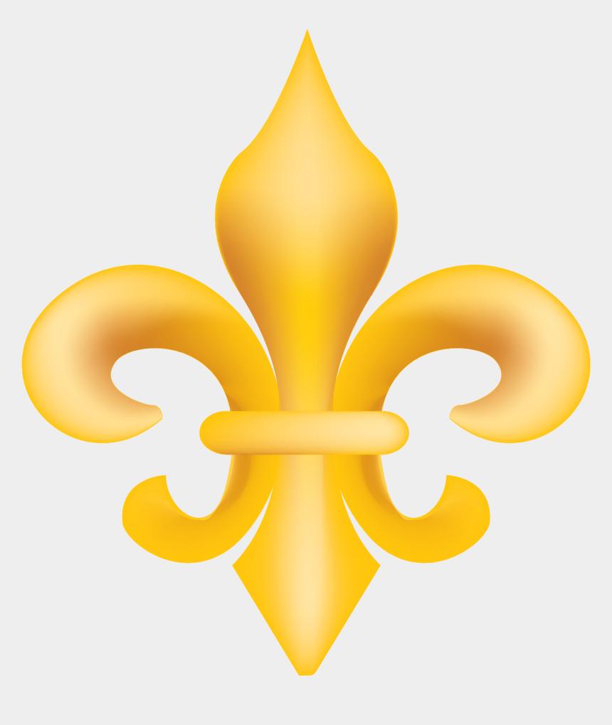 fleur de lis clipart, Cartoons - Gold Fleur De Lis Vector Clip Art - Fleur De Lis Transparent Background