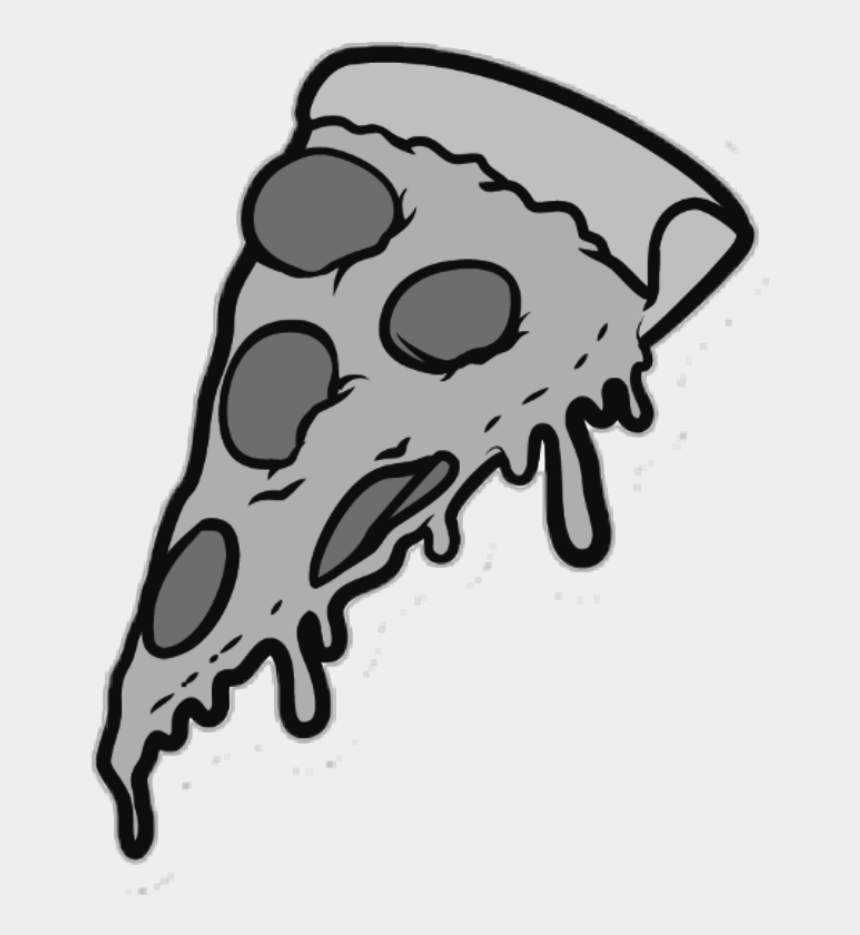 pizza slices clipart, Cartoons - #pizza #slice #food #eat #grey - Pizza Slice Cartoon Png
