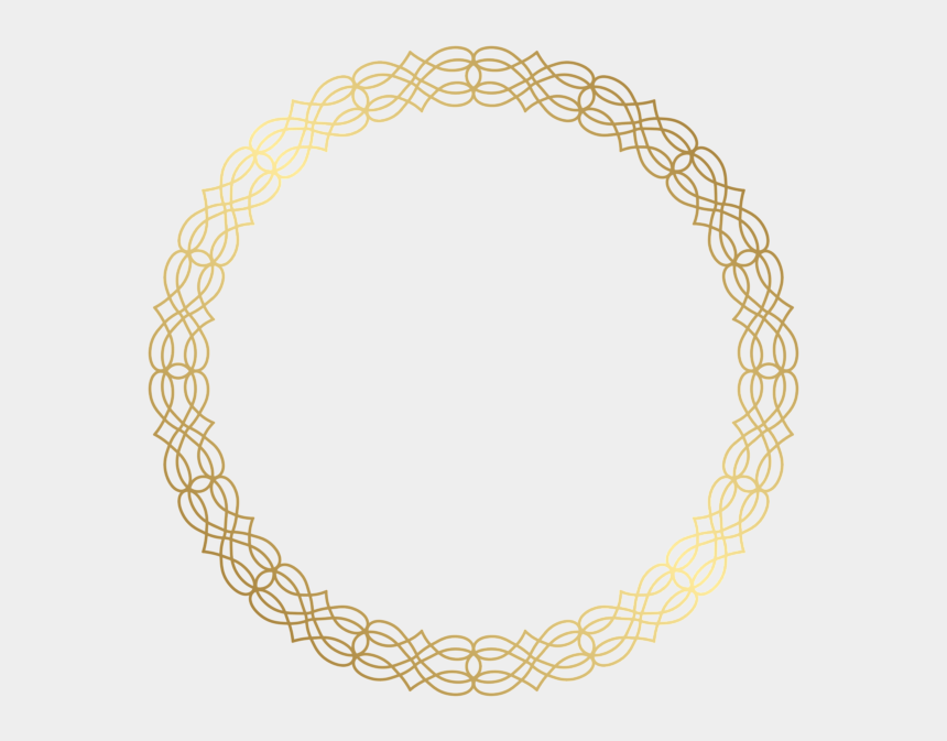 round clipart, Cartoons - Necklace Clipart Round Gold - Transparent Gold Border Circle Png