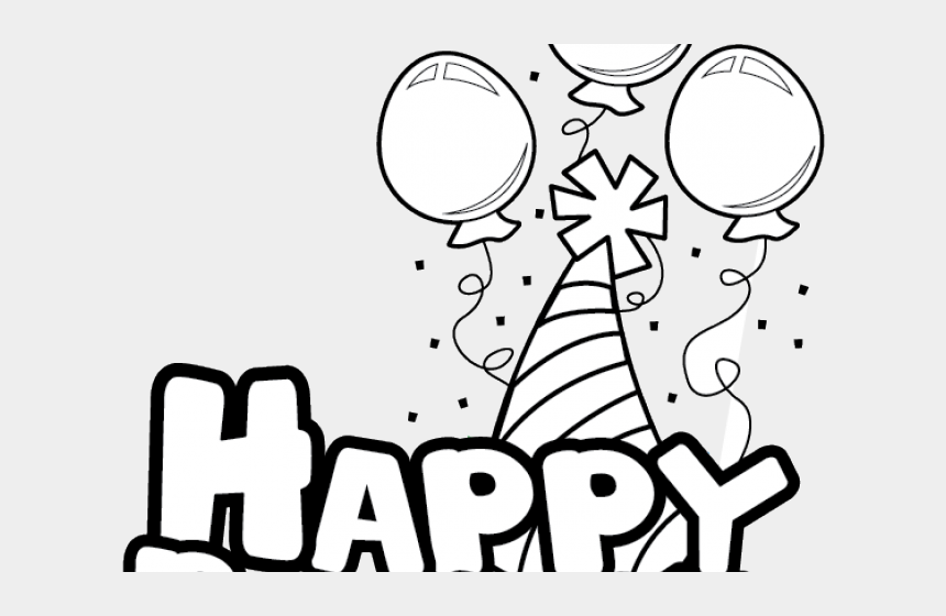 Free Happy Birthday Clipart Free Black And White Clip Art Birthday Cliparts Cartoons Jing Fm
