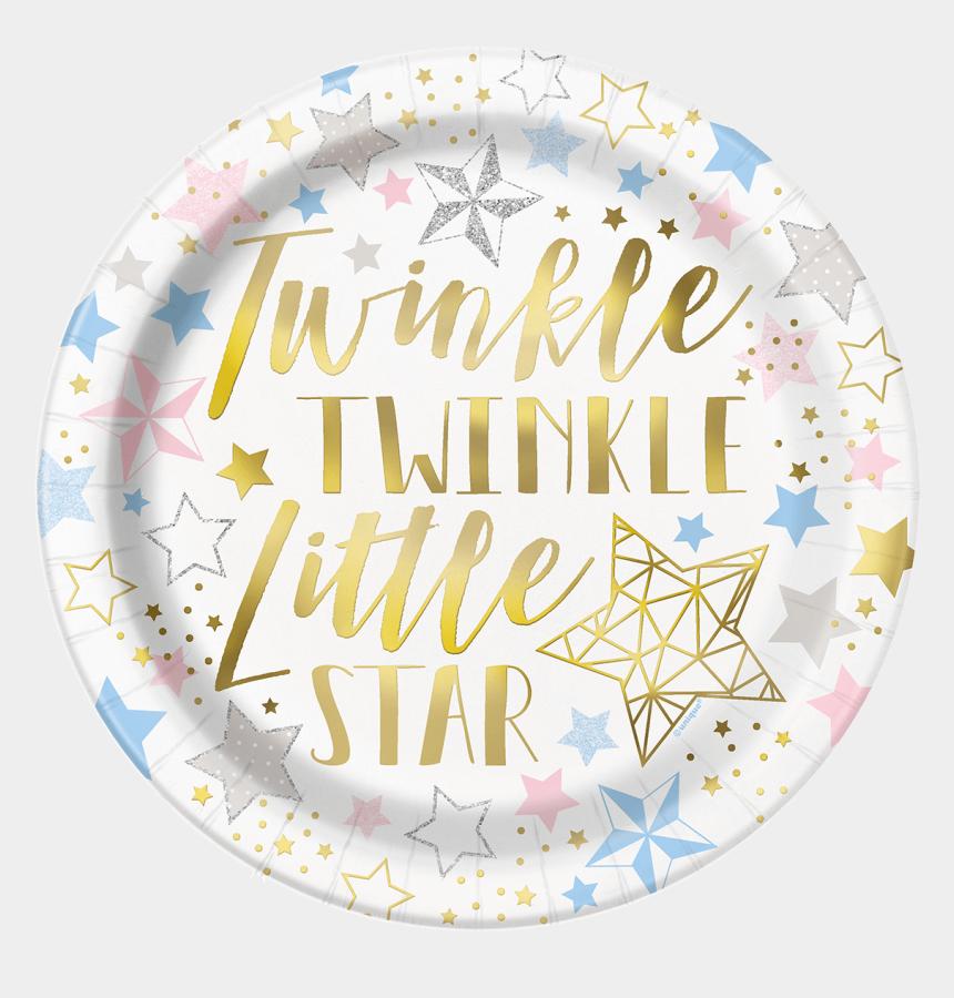 twinkle twinkle little star clipart, Cartoons - Twinkle Paper Plates Large - Twinkle Twinkle Little Star Gender Neutral Baby Shower