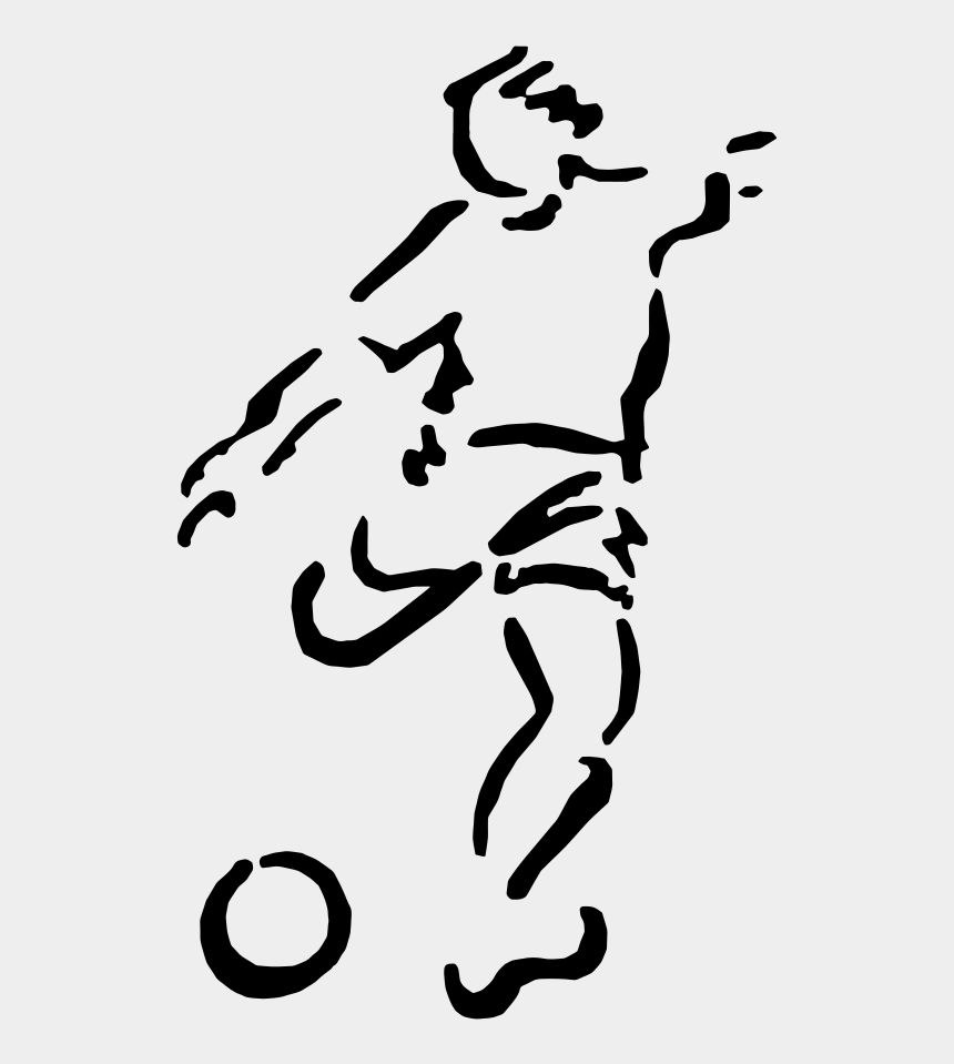 football player silhouette clipart, Cartoons - American Football Stencil Football Player Sports - Football Soccer Icon Png