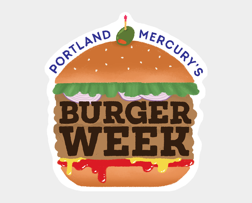 peanut butter and jelly sandwich clipart, Cartoons - Burger Week Food And Drink Portland Mercury Ⓒ - Illustration