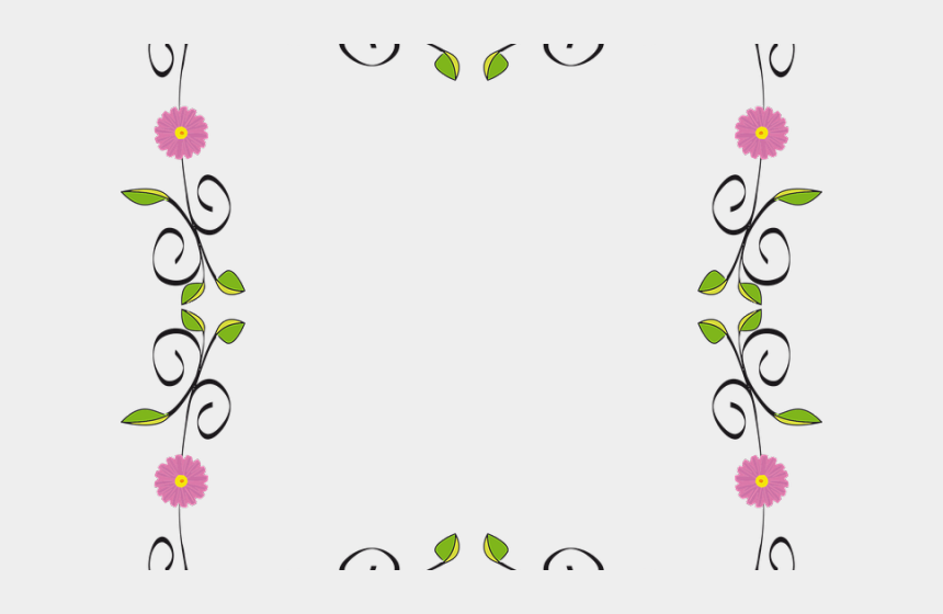 horizontal flower border clipart, Cartoons - Border Clipart Horizontal - Flower Border