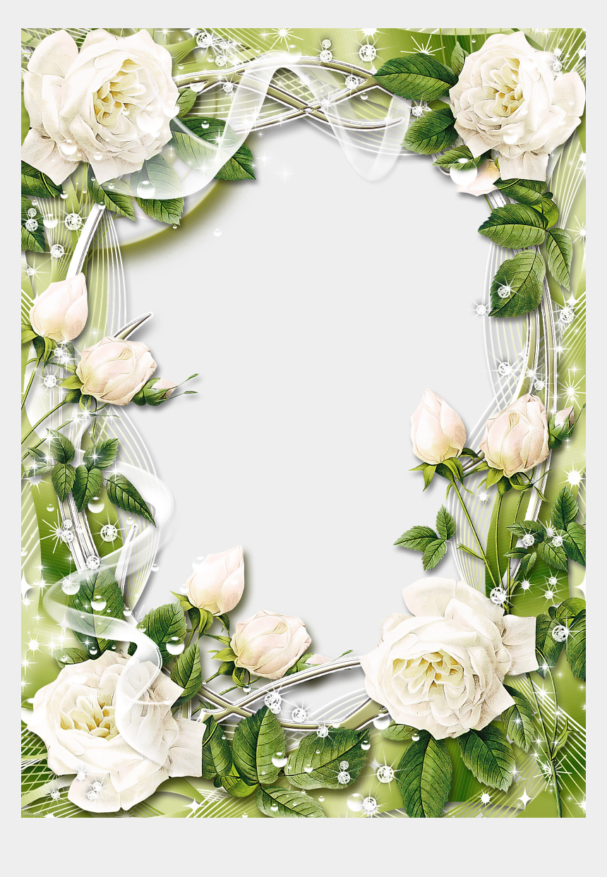 white rose clipart, Cartoons - Picture Borders, Rose Frame, Flower Frame, Smartphone - White Rose Frame Png